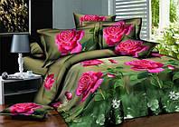 Двуспальное постельное белье полиСАТИН 3D (поликоттон) 851422