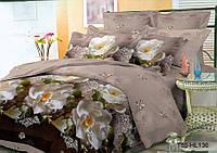 Евро постельное белье полиСАТИН 3D (поликоттон) 85136