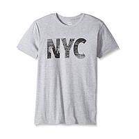 Футболка мужская серая Hanes c надписью NYC