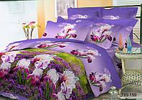Полуторное постельное белье полиСАТИН 3D (поликоттон) 85159