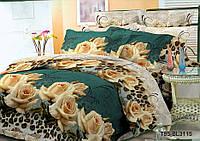 Полуторное постельное белье полиСАТИН 3D (поликоттон) 853115