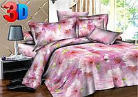 Полуторное постельное белье полиСАТИН 3D (поликоттон) 85353
