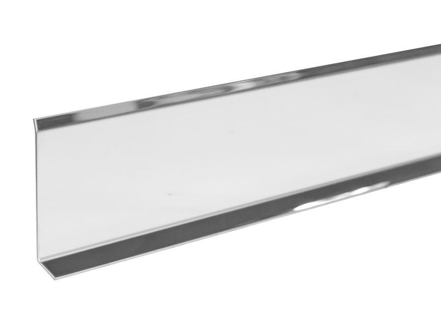Металлический плинтус Profilpas Metal line 790 нержавеющая сталь, полированный 10х80х2700 мм.