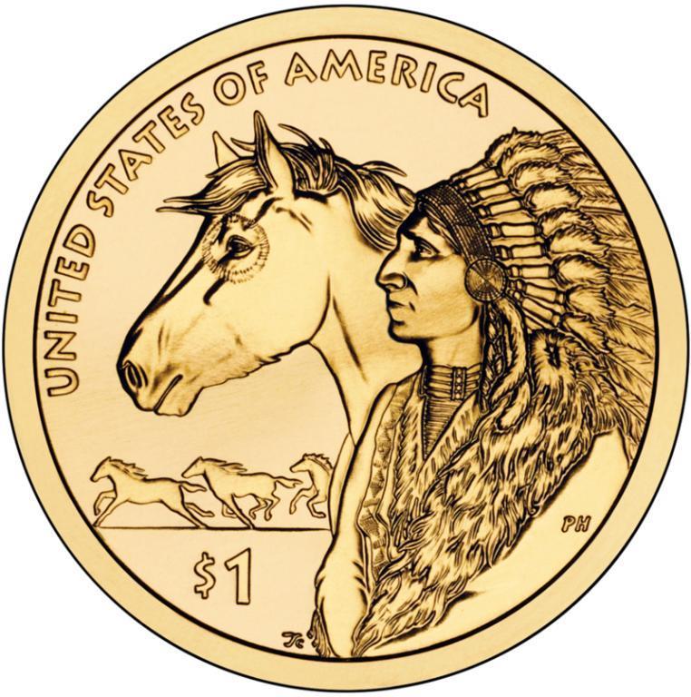 США 1 доллар 2012, Сакагавея Индеец с лошадью