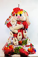 Пакетница Vikamade Зайчиха с зайчатами. Символ Семьи.