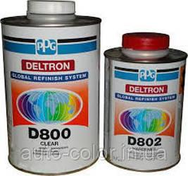 Лак PPG D800 2K акриловий безбарвний 2+1 1л. + затверджувач D802 0,5 л.