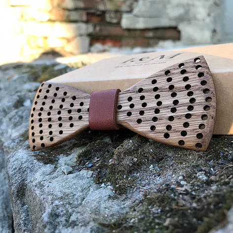 Галстук-бабочка I&M Craft из дерева (060600), фото 2