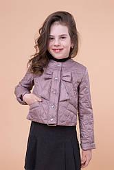 Детская демисезонная куртка для девочки Париж, размеры 122-146