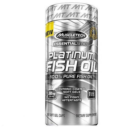 Platinum 100% Fish Oil MuscleTech 100 Softgels, фото 2