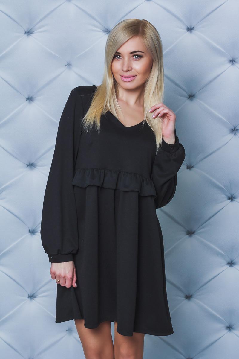 Женское свободное платье черное