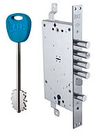 Замки для дверей врезной KALE 456 двухсистемний 5 кл 85 mm Никель