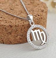 Серебряная подвеска знак зодиака дева