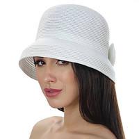 Женская летняя шляпа моделируемое поле цвет белый