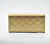 Женский кошелек лаковый золотой, фото 5