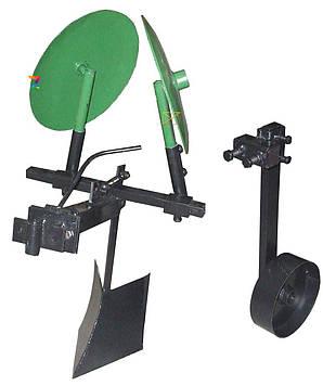 Картофелесажалка для мотоблока оборотная (усиленная) с опорным колесом