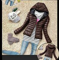 Лёгкая куртка с капюшоном на тонком синтепоне Весна Осень Унисекс, фото 1