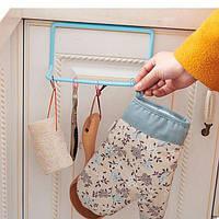 Пластиковая Вешалка для полотенец (Голубой)