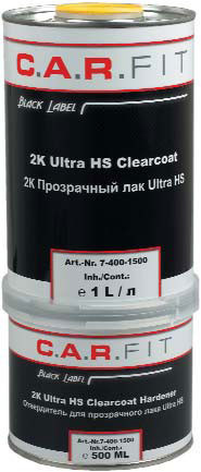C.A.R FIT Лак прозрачный  Ultra HS, 1л + отвердитель 0,5л
