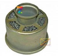 Фильтрующий элемент воздушный сетка в металическом корпусе (R190)
