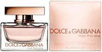 Женская туалетная вода Dolce & Gabbana Rose The One (Дольче Габбана Роуз Зе Ван)