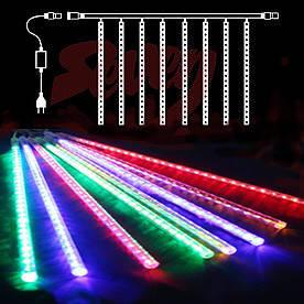 Гирлянда Сосулька светодиодная, 8 трубок, 20 см, Белый(Сосул_бел8-20)