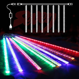 Гирлянда Сосулька светодиодная, 8 трубок, 20 см, Белый