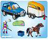 Playmobil 5223 Авто з причіпом для коня (Плеймобил конструктор Автомобиль с прицепом для коня), фото 3