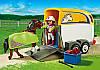 Playmobil 5223 Авто з причіпом для коня (Плеймобил конструктор Автомобиль с прицепом для коня), фото 4