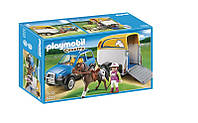 Playmobil 5223 Авто з причіпом для коня (Плеймобил конструктор Автомобиль с прицепом для коня)