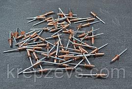 Заклепка Ф3.0 DIN 7337, медь/сталь