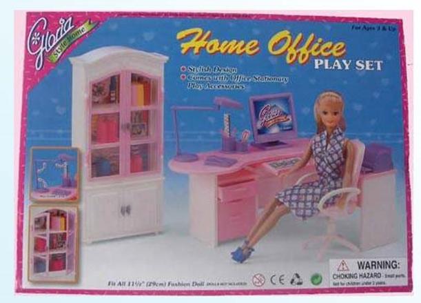Мебель для кукол Gloria 24018 Офис для Барби
