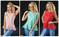 Хлопковая блуза без рукавов от производителя р. S-XL