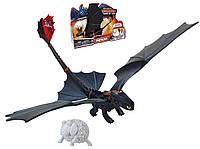 Игрушка дракон Беззубик (ночная фурия) с катапультой м/ф Как приручить дракона