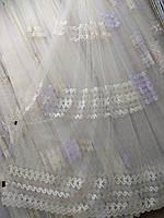 Тюль с вышивкой на фатине Турция, фото 1
