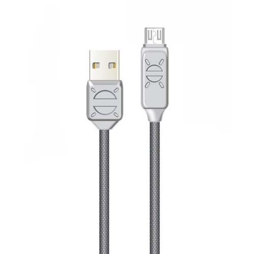Дата кабель Jellico PR-10, серия Perry MicroUSB 1m 3A - серый