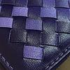 Миниатюрный плетенный женский кошелек синий, фото 2