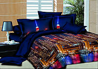 Комплект постельного белья 150*220 см, полуторный ранфорс 100% хлопок. (арт.7401)