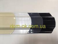 Штакет металлический 108 мм, 113 мм  глянец двухсторонний белый, бежевый , фото 1