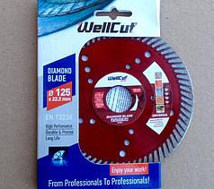 Алмазный диск 125 турбоволна WellCut Profi с лазерными отверстиями
