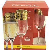 """Набор бокалов 190 мл для шампанского EAV08-419 рисунок """"Версаче"""" 6 шт."""