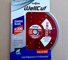 Алмазный диск 230 турбоволна WellCut Profi с лазерными отверстиями