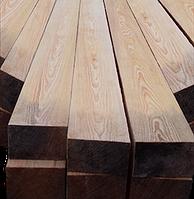 Конструкционный брус лиственница разного сечения