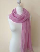 Шарф шелковый нежно розового цвета