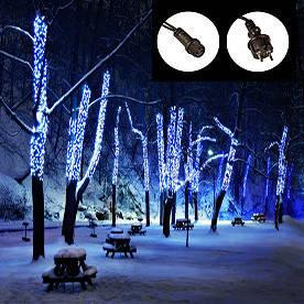 Гирлянда-нить 50 LED уличная синяя, 5 м, черный провод