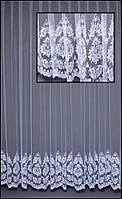 Шикарные гардины-сетка с вышивкой по низу Т279