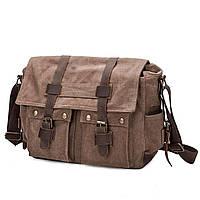 Рюкзак канвас коричневый