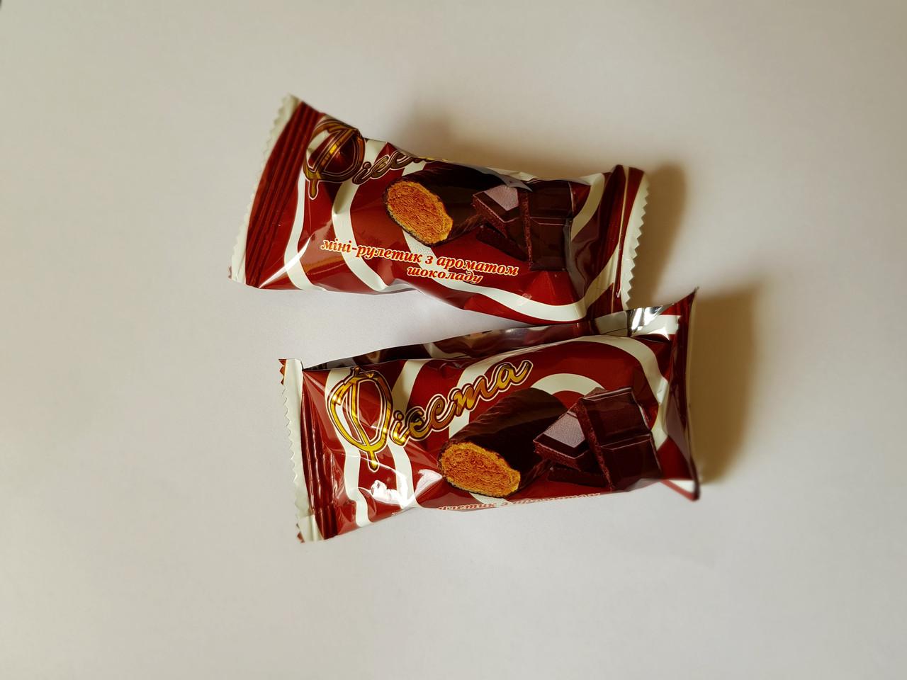 "Мини-рулет ""Фиеста шоколад"" 1,5кг. ТМ Балу"