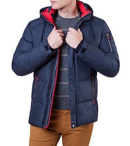 Мужская зимняя синяя куртка