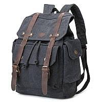 Рюкзак канвас  TB668-BK, фото 1