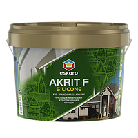 Силиконовая фасадная краска Akrit F Silicone 9л